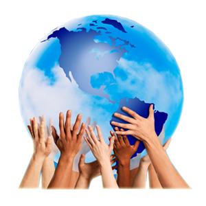 Erde mit Händen